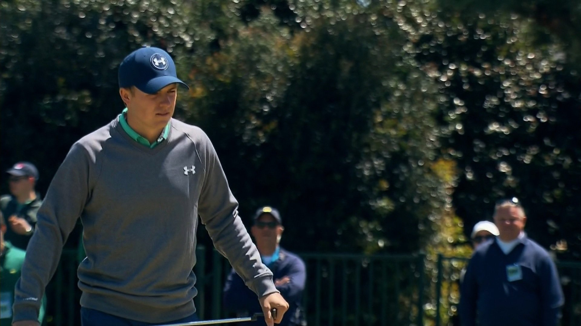 Masters: Jordan Spieth at top of leaderboard despite late struggles