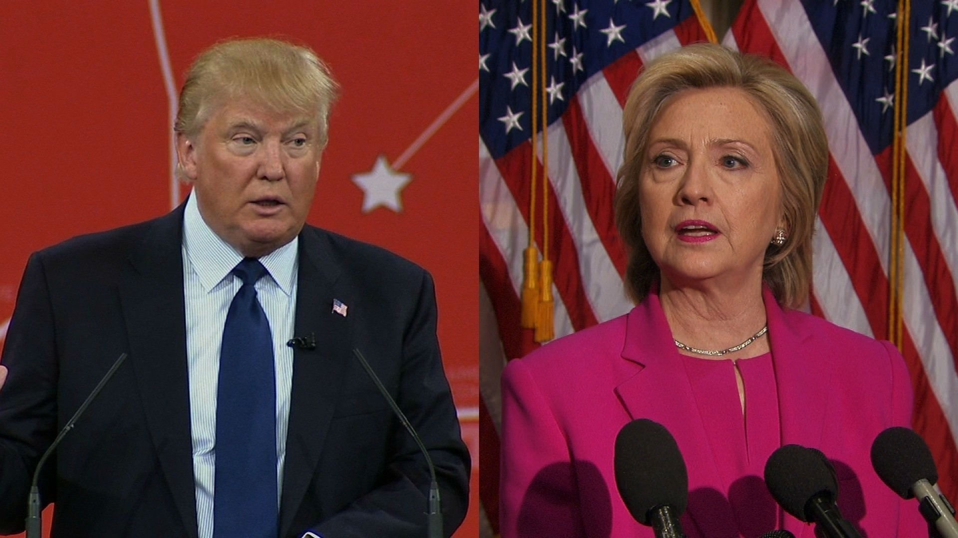 Clinton leads Trump in key swing states
