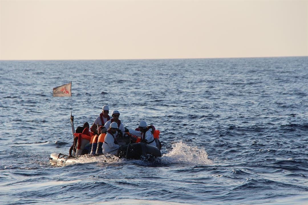 Around 6,500 migrants were saved in the course of approximately 30 hours from Sunday