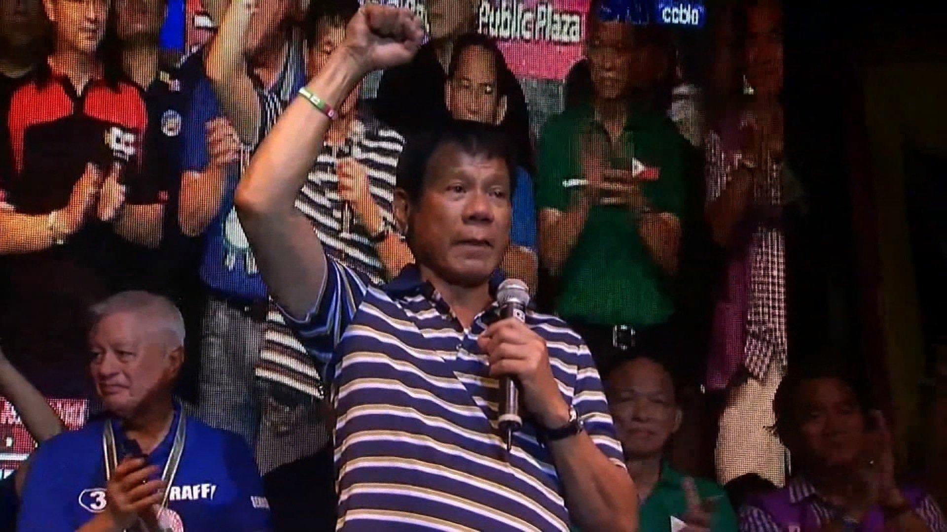 Duterte hopes Philippine fishermen can return to China-controlled shoal