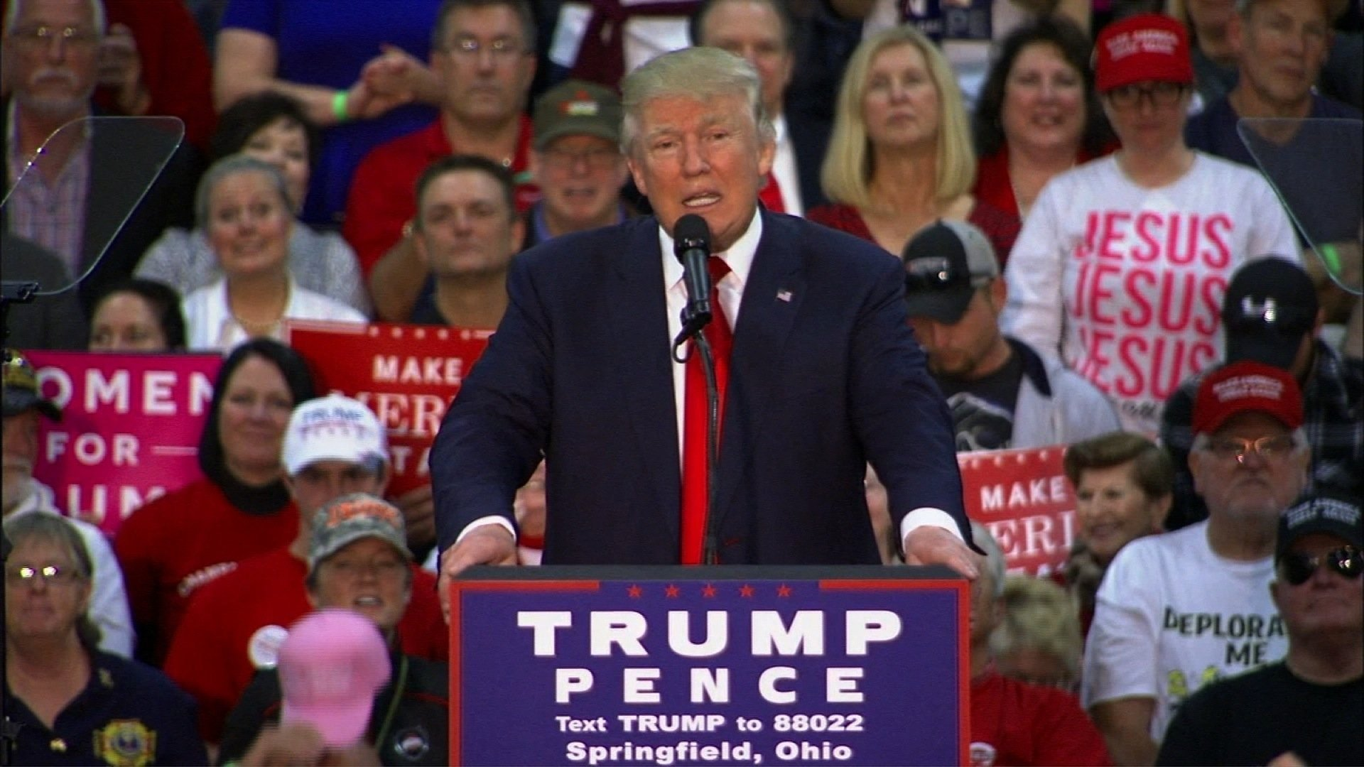 Trump Rallies Crowd In Springfield