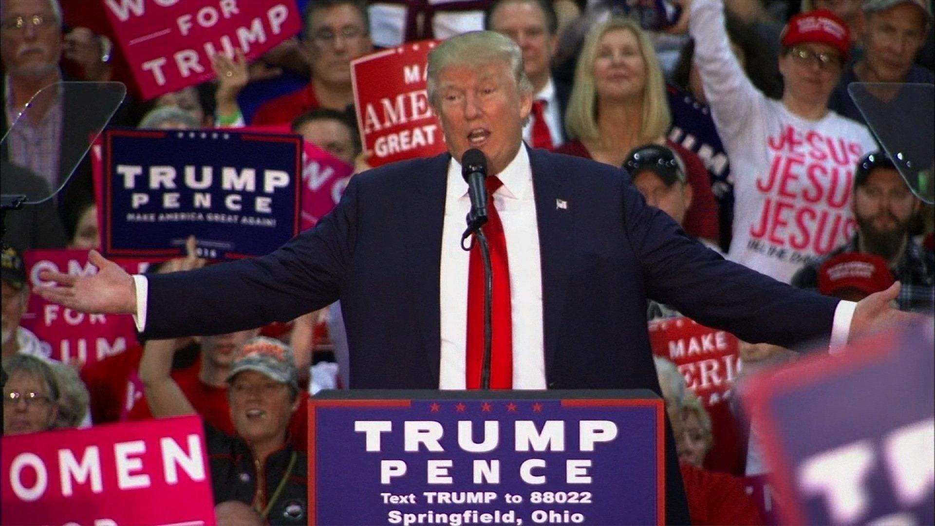 Trump Rallies Crowd In Springfield