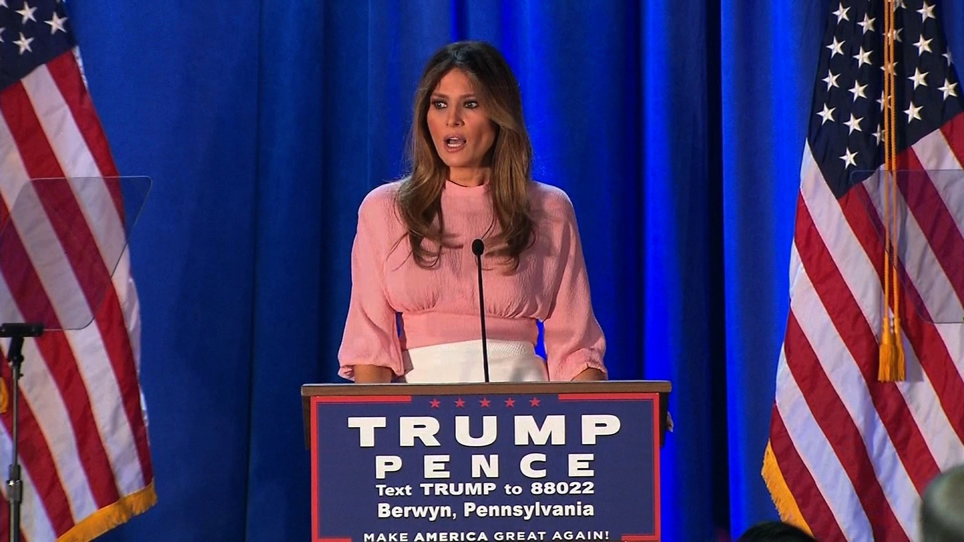 Melania Trump Seeks to Persuade Pennsylvania Women in Rare Speech