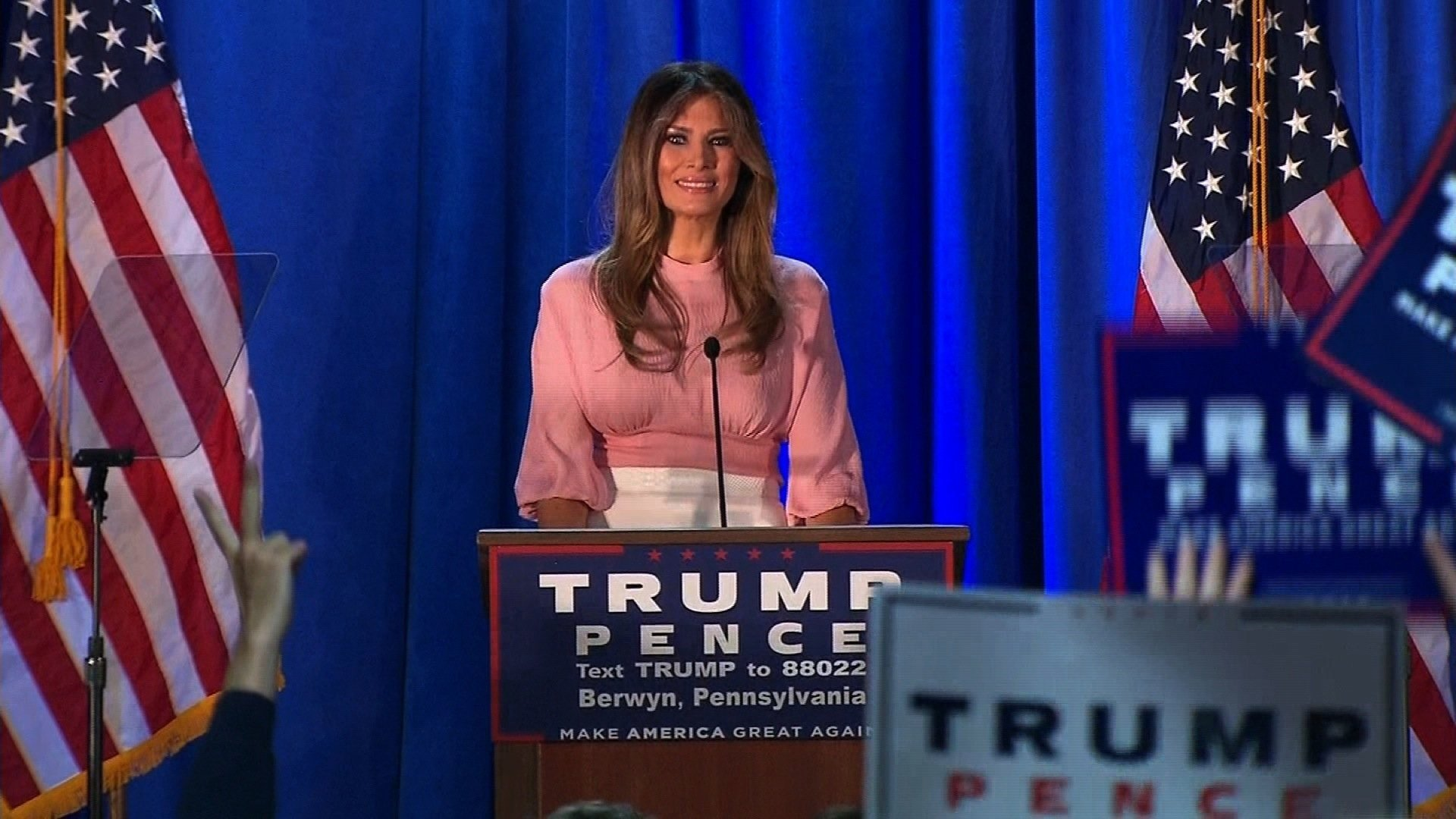 Melania Trump Reemerges On Campaign Trail, Pledges To Fight Online Bullying