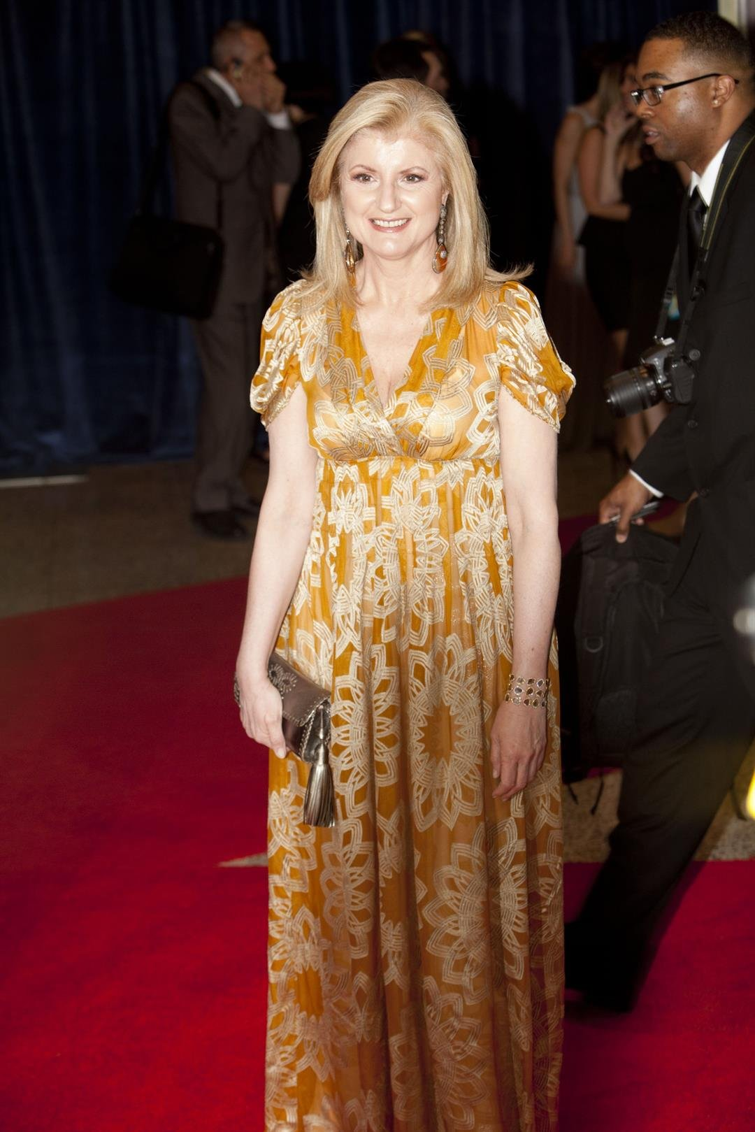 Arianna Huffington arrives at the 2011 White House Correspondents' Dinner in Washington D.C. (File photo)