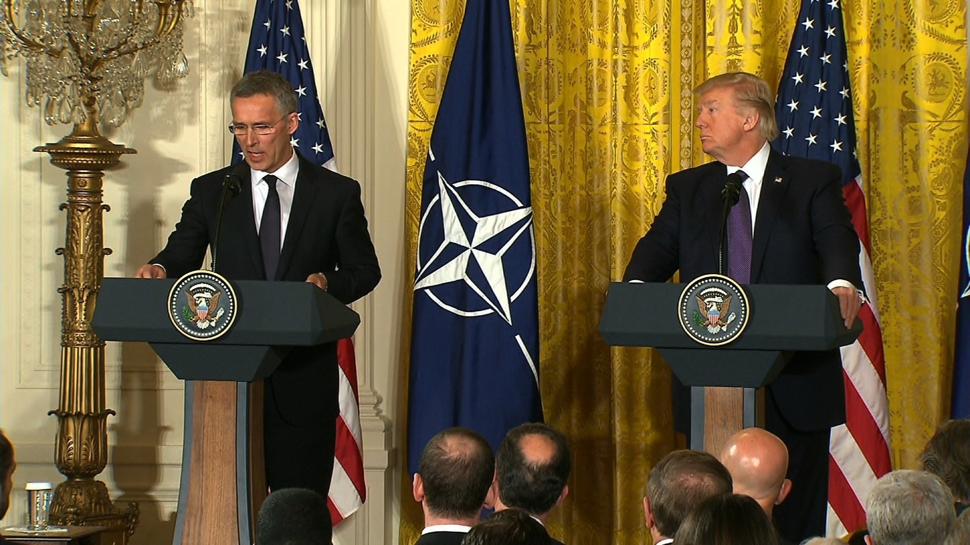 Trump does about-face on North Atlantic Treaty Organisation