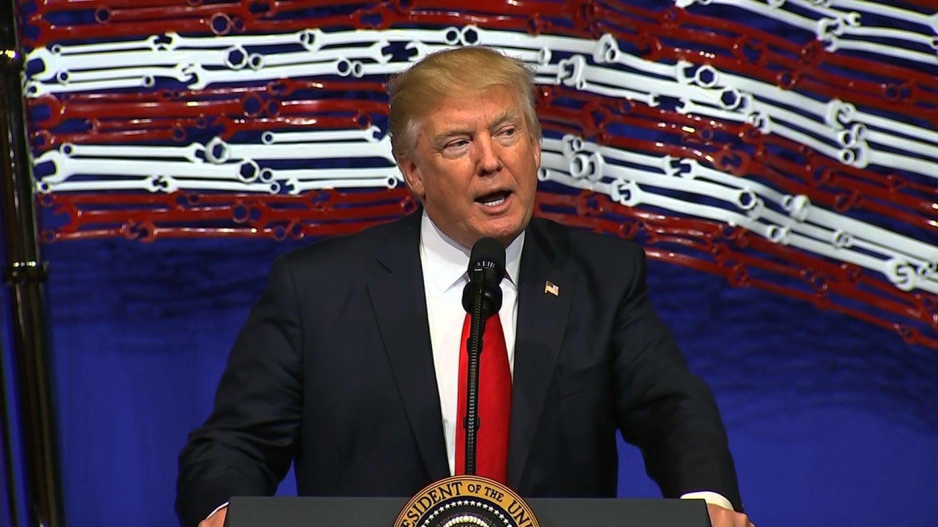US President Trump Signs