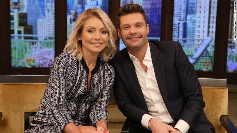 Ryan Seacrest is Kelly Ripa's new co-host on 'Live'