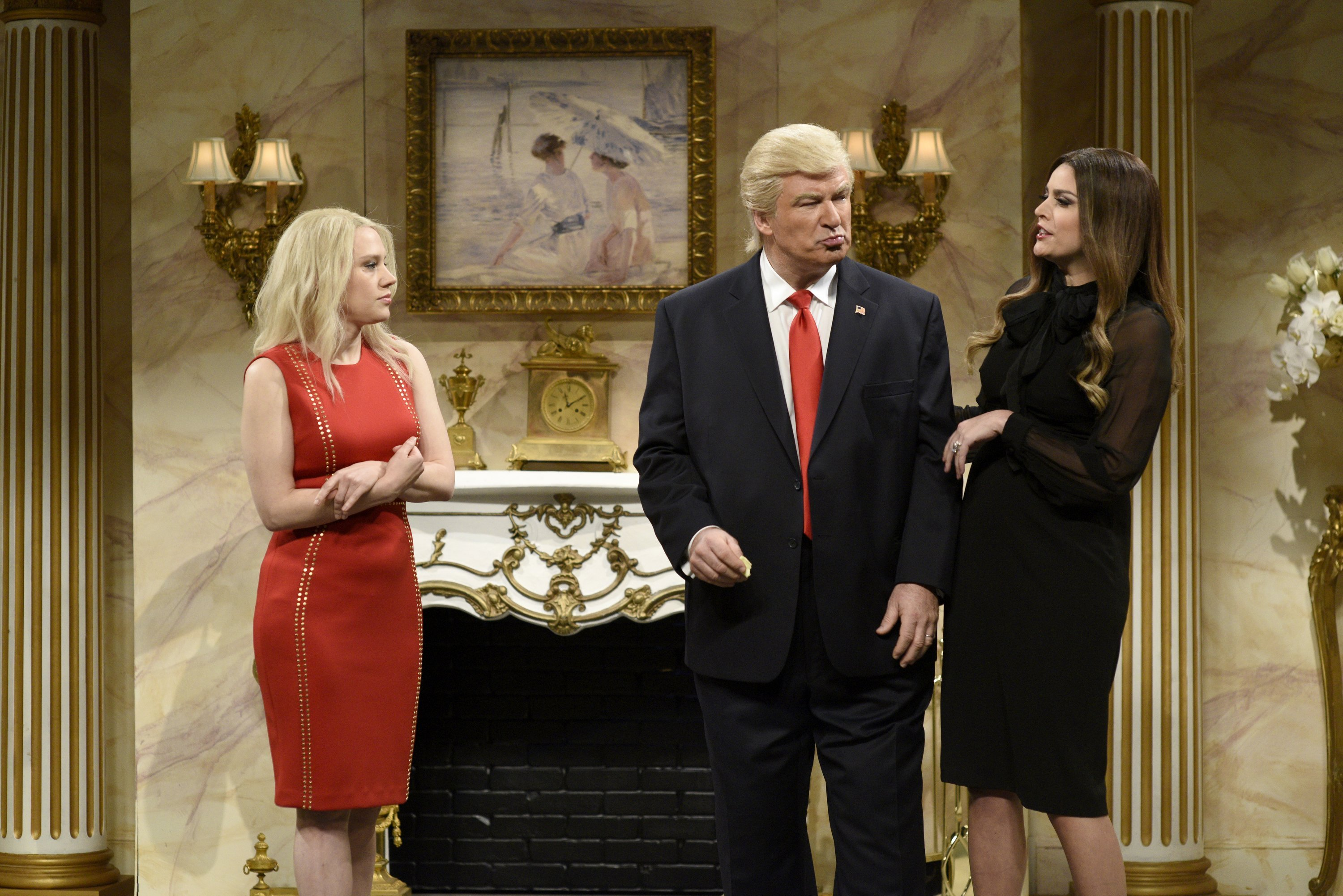 "After being criticized by the President-elect as ""mean-spirited"" and ""not very good,"" Alec Baldwin and his impersonation of Donald Trump returned on ""Saturday Night Live"" this wee"