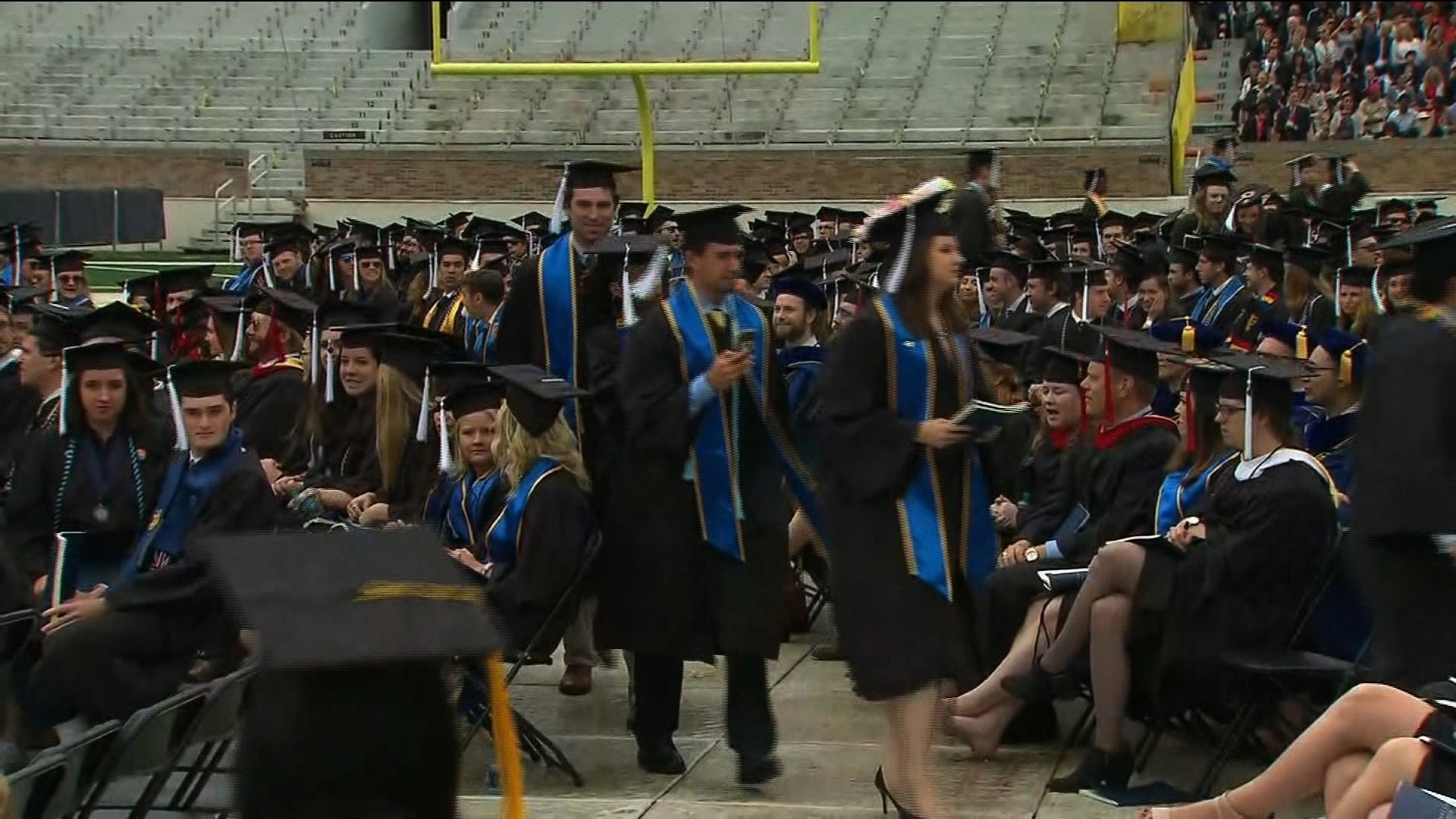 Notre Dame Students Walk Out During Vice President Mike Pence's Commencement Speech