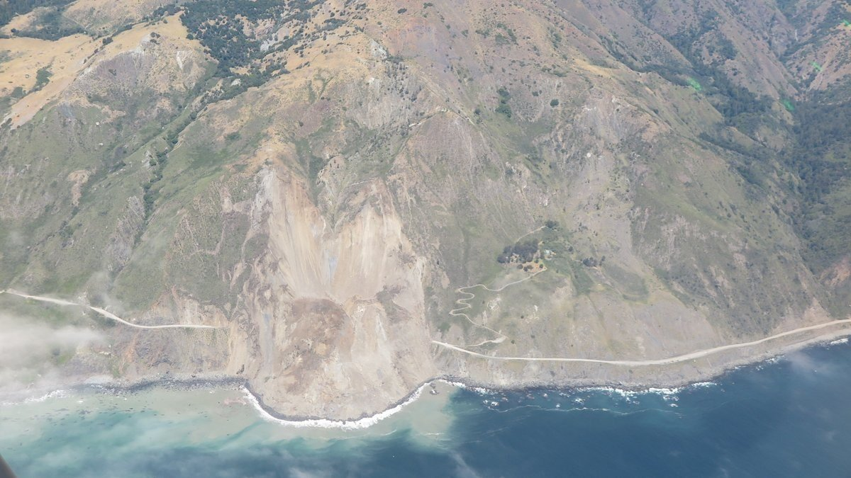 Landslide Buries Part of California's Famed Highway 1