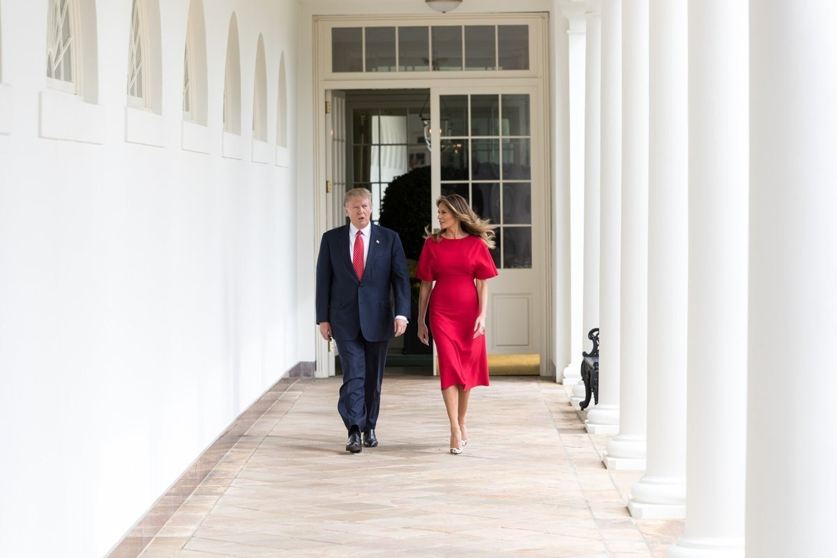 President Donald Trump and First Lady Melania Trump at The White House