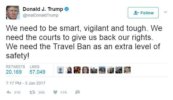 Travel ban critics say Trump is hurting his case