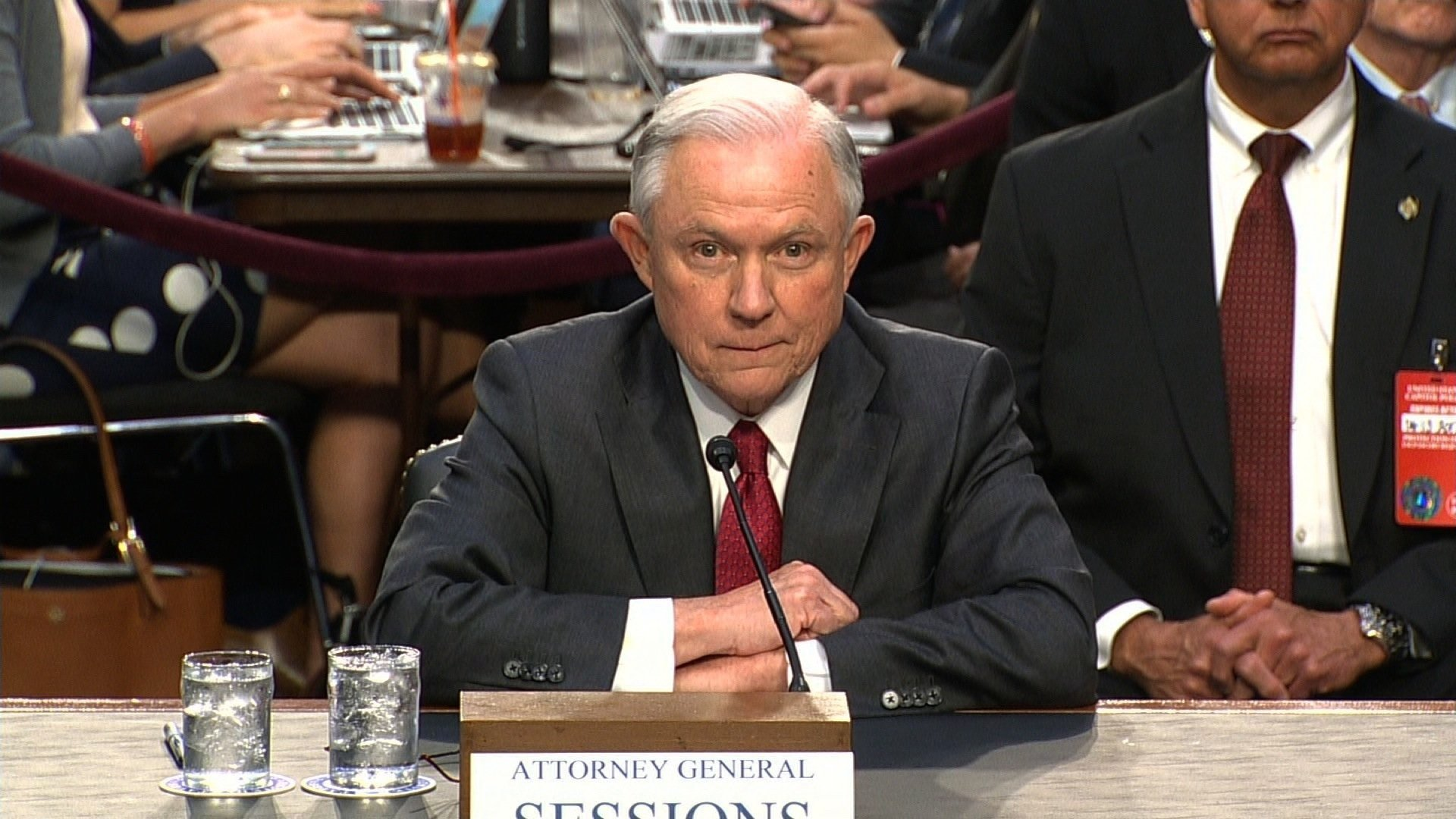 Attorney General Jeff Sessions Testifies Before Senate Intelligence Committee