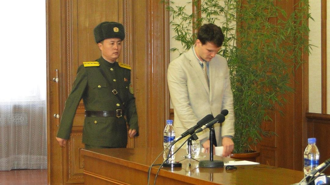 Otto Warmbier, released to United States  from North Korea, non-responsive to speech