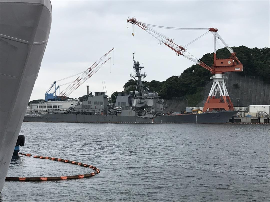 All seven missing sailors from the USS Fitzgerald were found dead in flooded berthing compartments following the warship's collision with a merchant vessel, a US Navy official tells CNN.