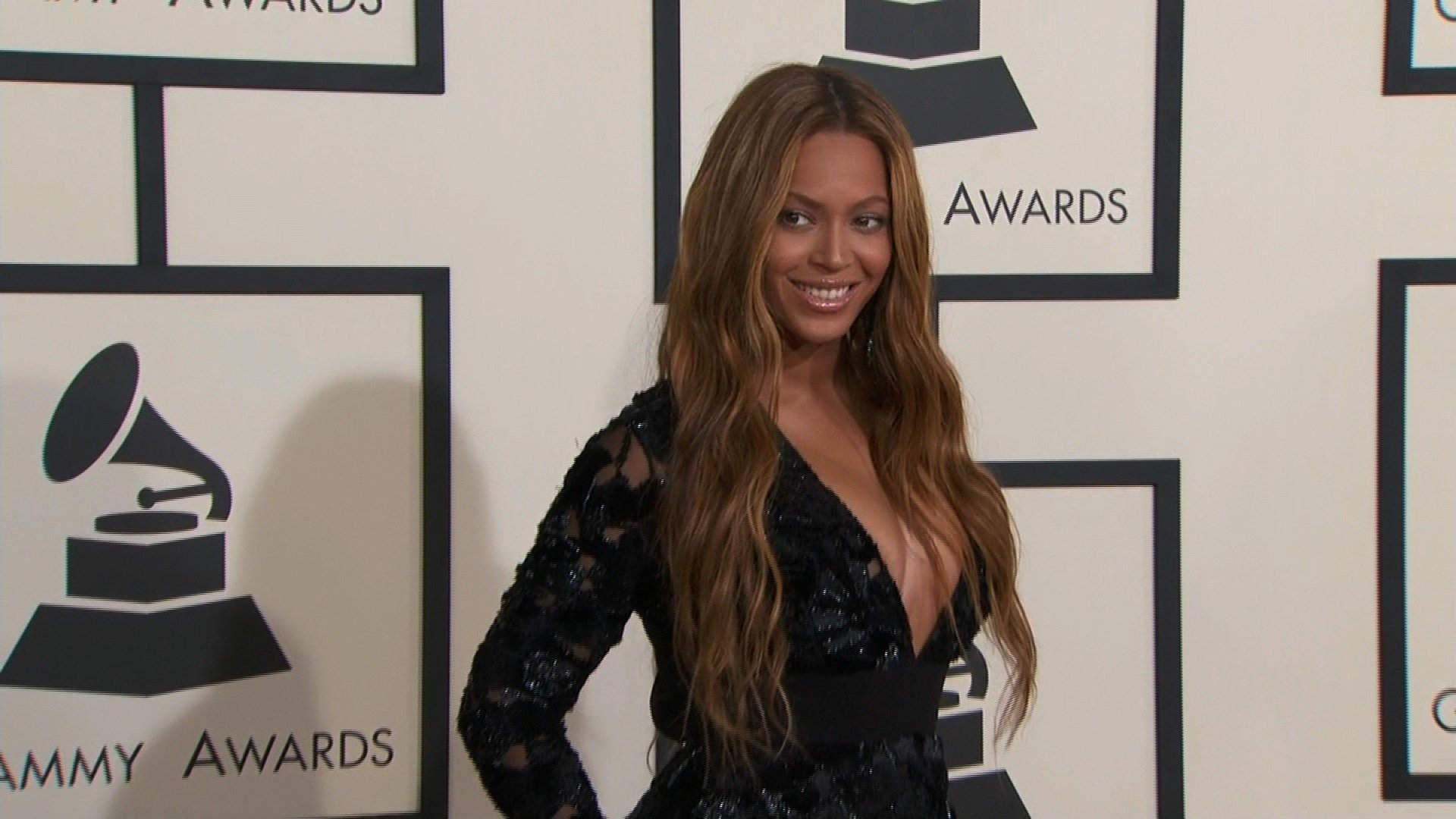 Beyonce on the red carpet at the 57th Annual GRAMMY Awards in Los Angeles on Sunday, February 8, 2015.