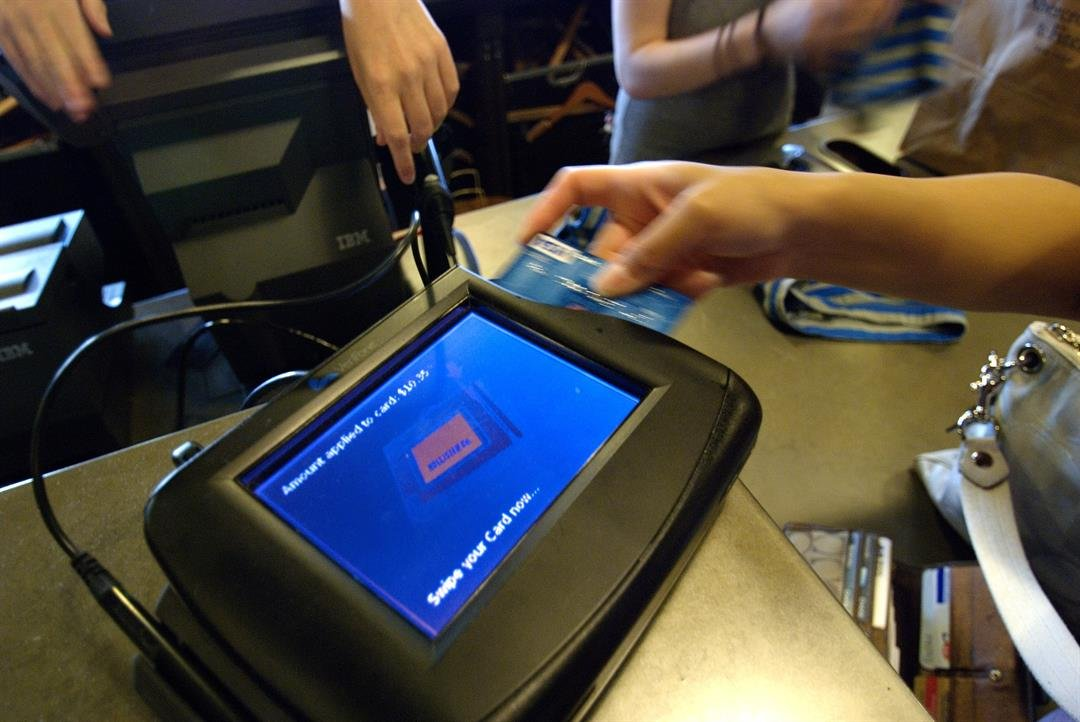 Deferred-interest credit cards are often offered by places selling big-ticket items that you may not be able to pay for at once like furniture, tires, appliances, even medical or dental services.  [FILE] An unidentified shopper swipes a credit card to...