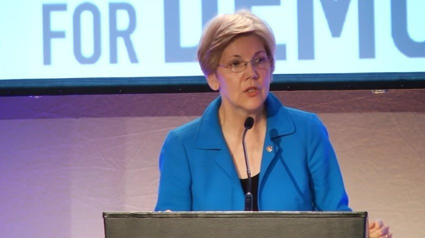 """Warren cited a federal law that empowers the Fed to remove directors if they """"engaged or participated in any unsafe or unsound practice"""" that caused a federally insured bank to """"suffer financial loss."""""""