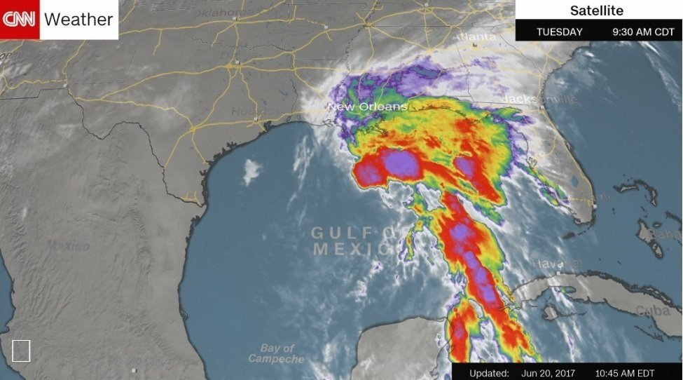 Cindy could bring life-threatening flash floods