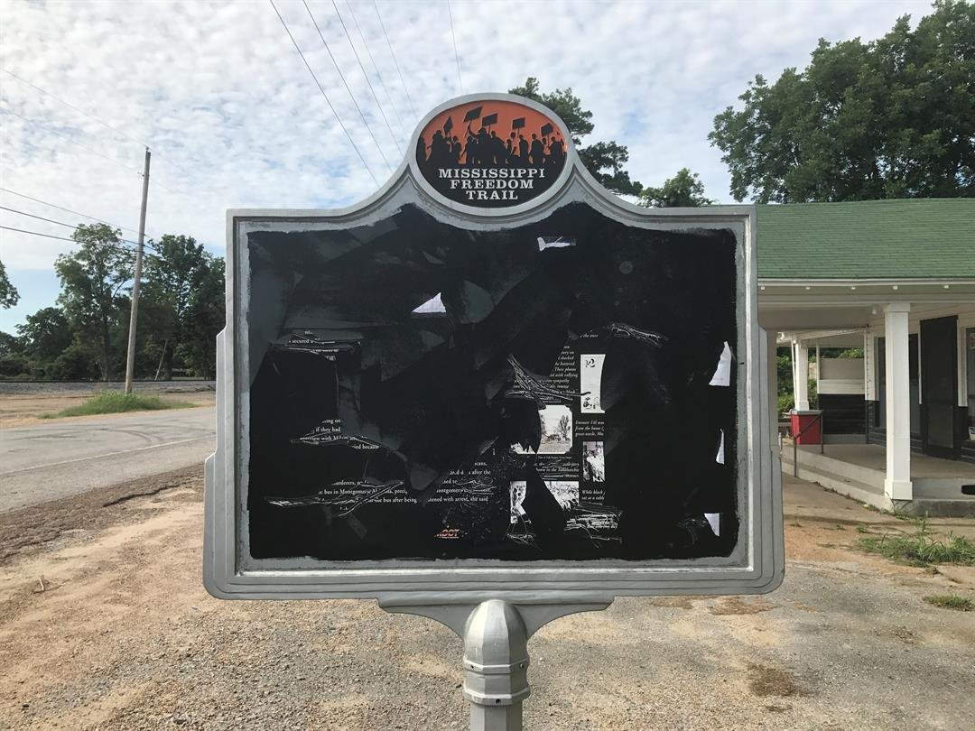 Emmett Till Civil Rights historical marker vandalized in MS, again
