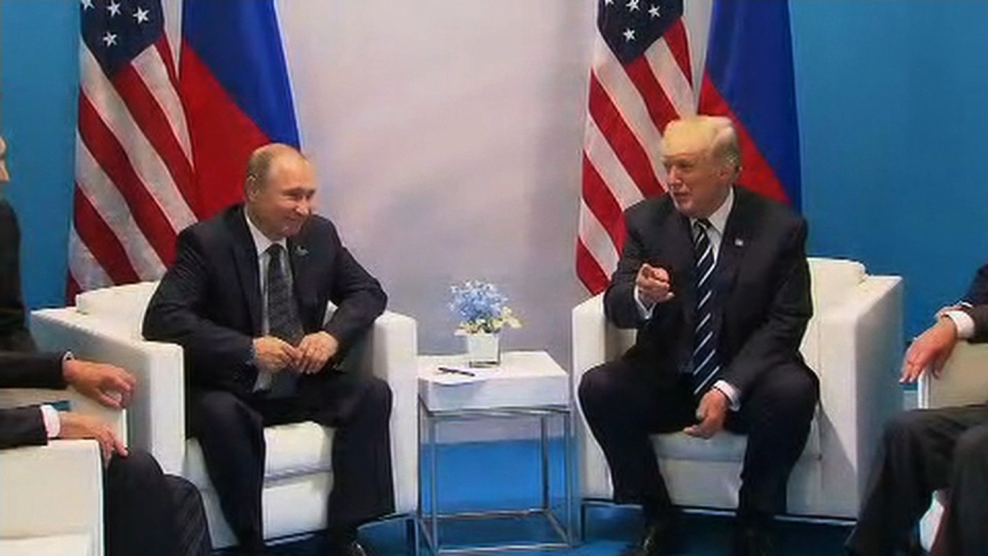 President Donald Trump and Russian President Vladimir Putin began their first official meeting after 4 p.m. local time. They spoke briefly to reporters before starting a closed discussion
