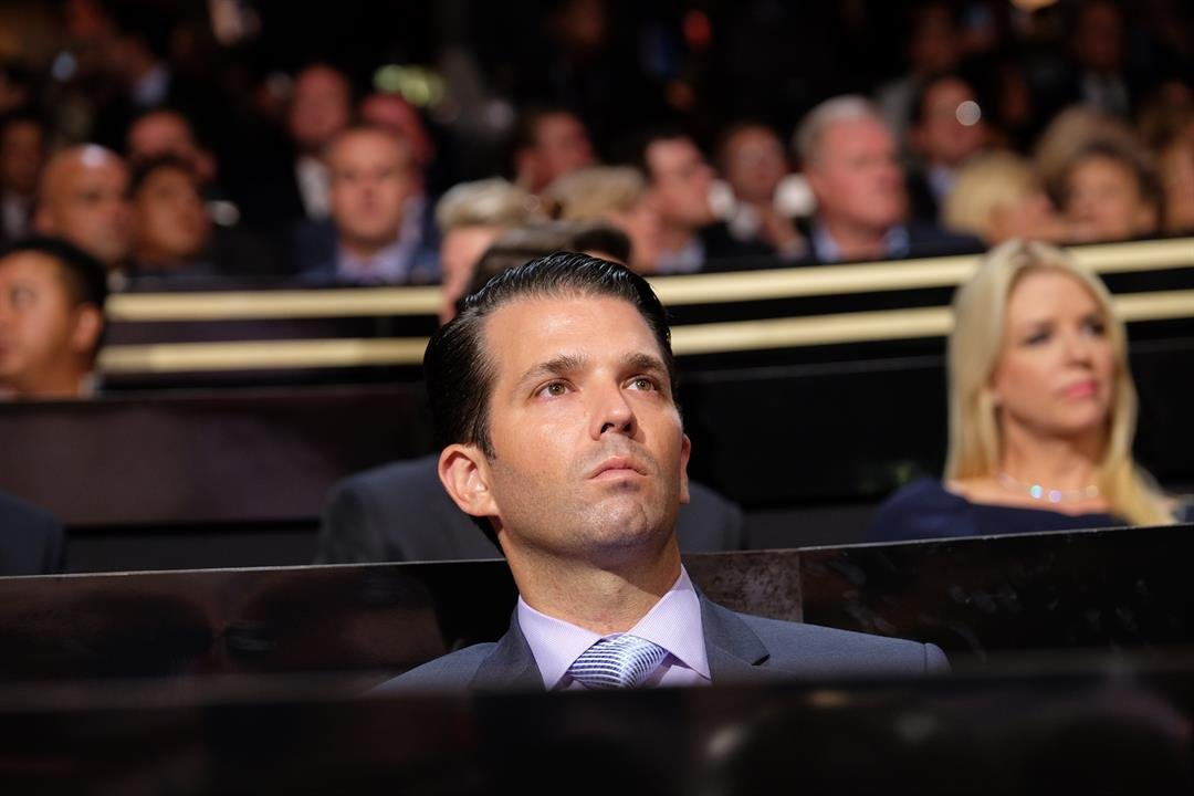 Donald Trump Jr. attends the 2016 Republican National Convention in Cleveland Ohio