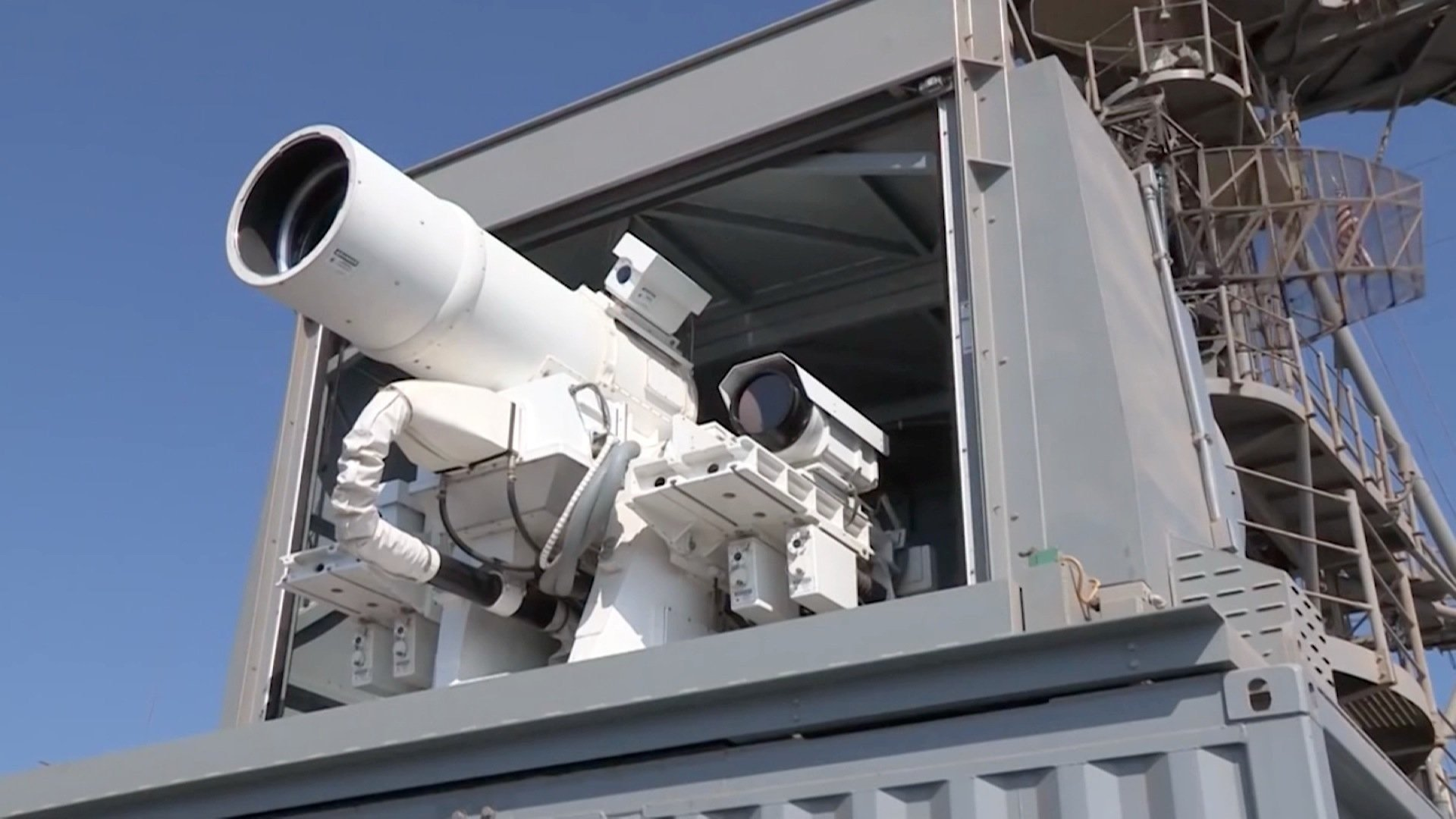 CNN was granted exclusive access to a live-fire test of the laser. The system which cost $40 million does not use ammunition and only costs a dollar a shot.