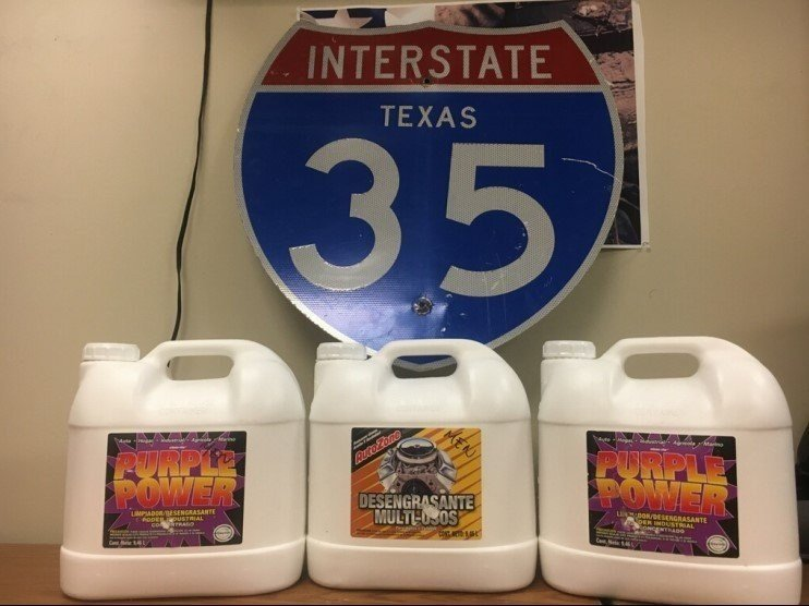 Texas police seize 75 pounds of liquid meth in cleaning jugs