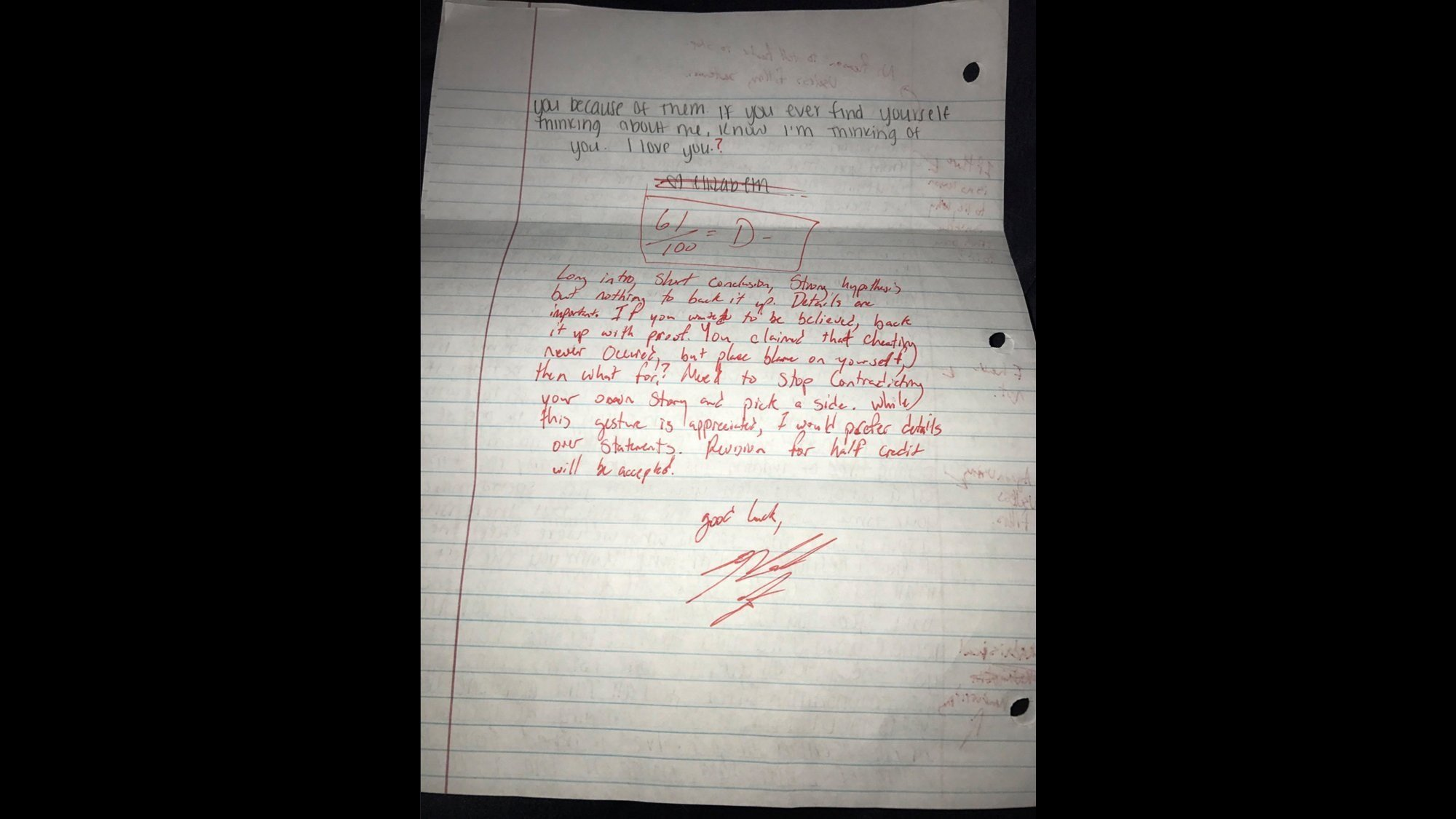 Student suspended for grading ex's apology gets back in university