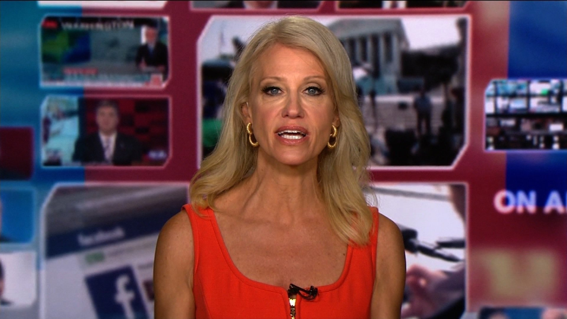Counselor to President Donald Trump Kellyanne Conway appears on CNN's
