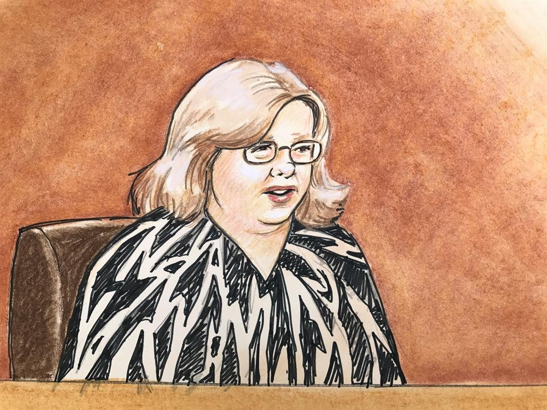 Sketches from Mueller vs. Taylor Swift day 3 trial on August 9, 2017.