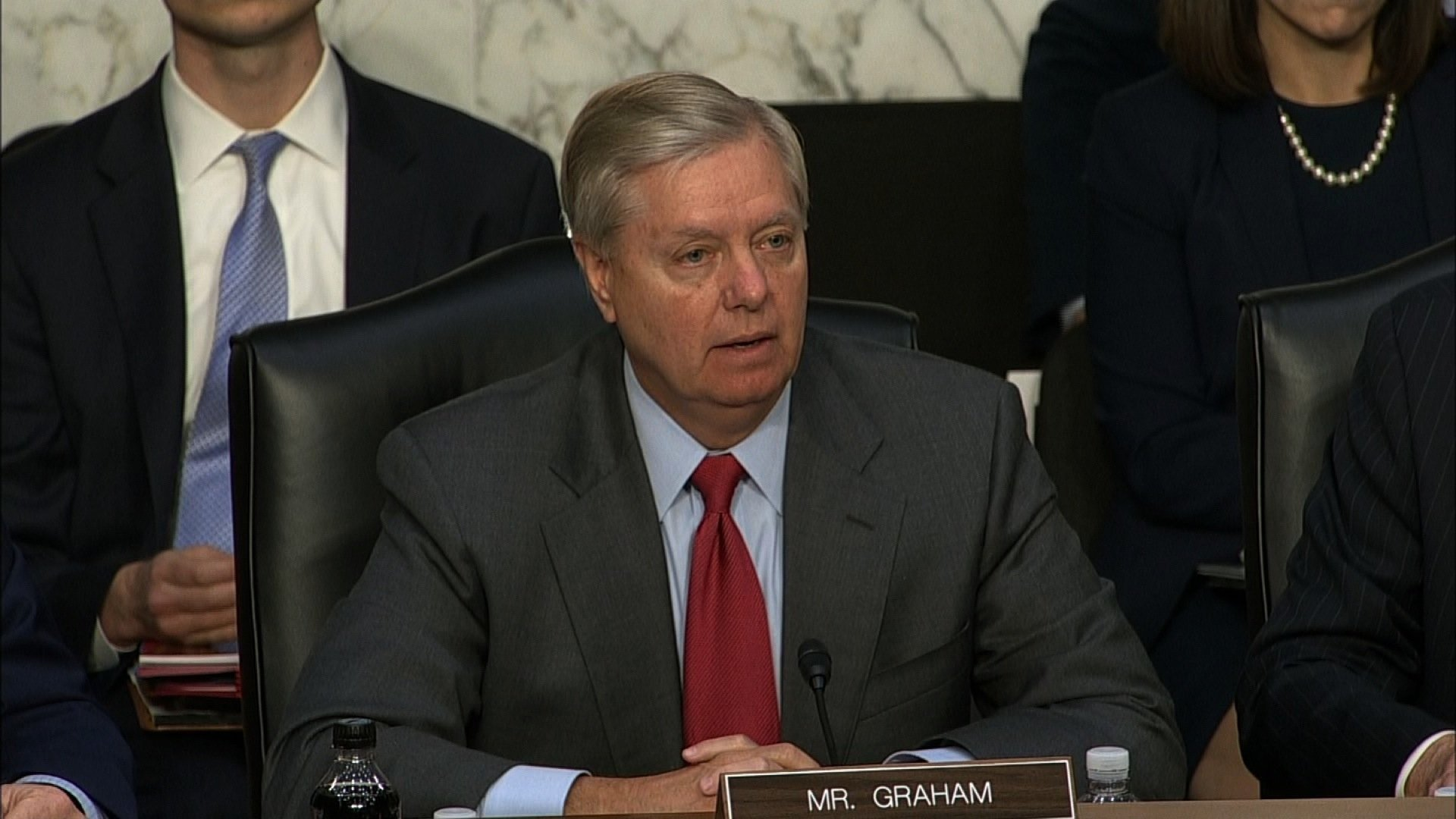 Senator Lindsey Graham speaks at the Senate Judiciary hearing