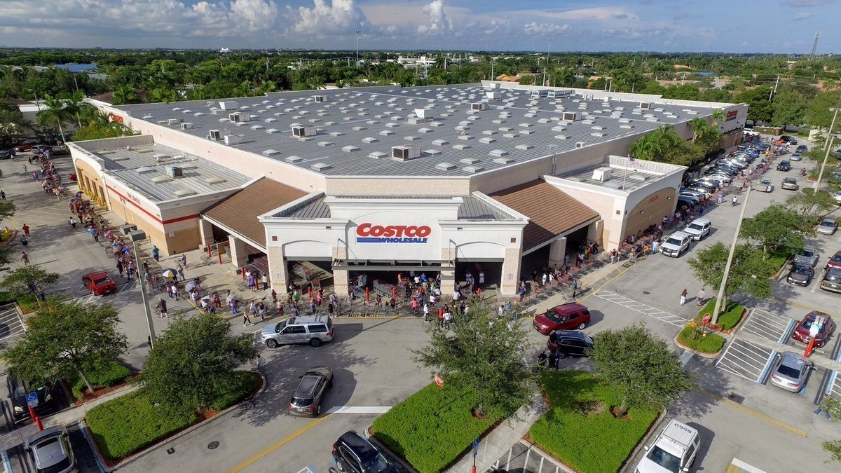 Lines form around the entire building at a Costco in Florida as residents braces for Hurricane Irma