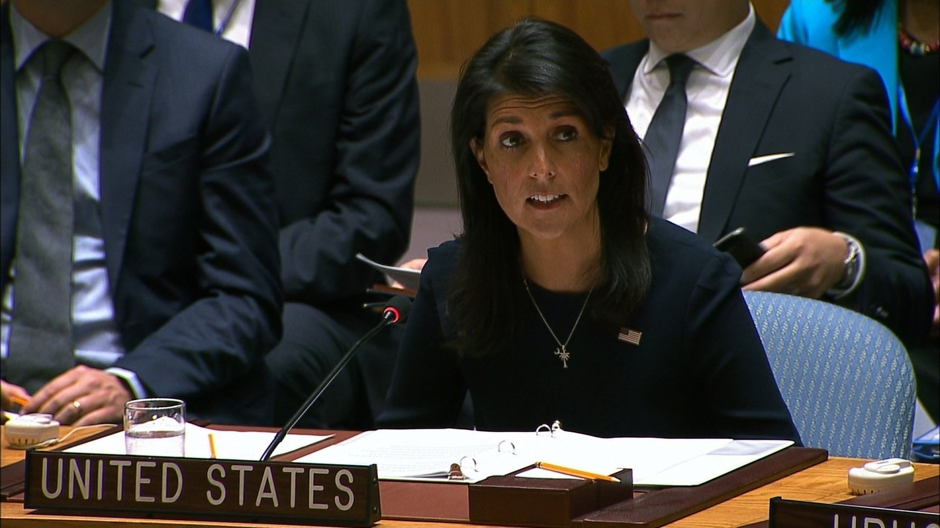North Korea threatens U.S. over Haley's 'hysteric fit' at UN