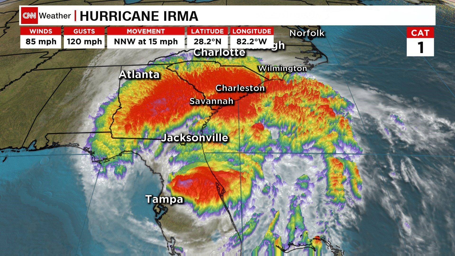 Satellite Images Show Hurricane Irma's Caribbean Destruction