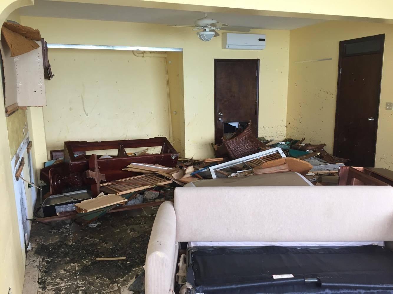 Andrew Burruss was staying in Apple Bay, British Virgin Islands when Hurricane Irma barrelled through.  Shot on: September 10, 2017