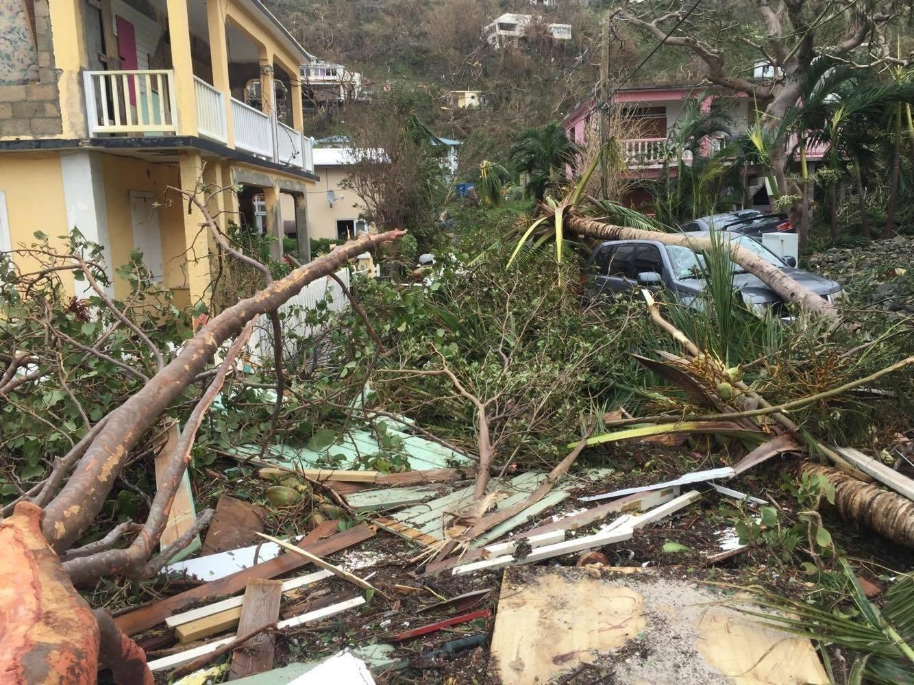 Andrew Burruss was staying in Apple Bay British Virgin Islands when Hurricane Irma barrelled through. Shot