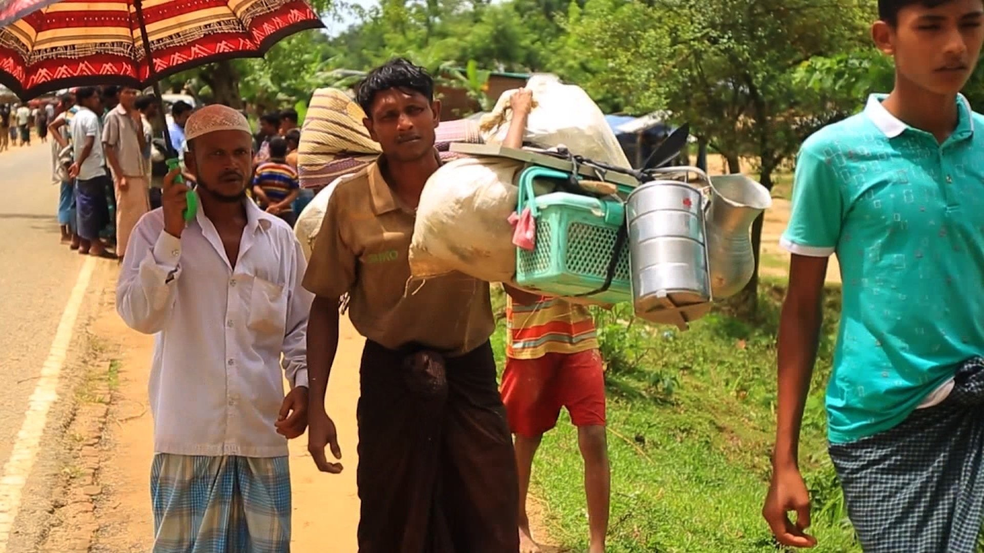 Tens of thousands of refugees are trapped on the border into Bangladesh without basic food and medicine amid operations by the Myanmar military, which have already killed hundreds.