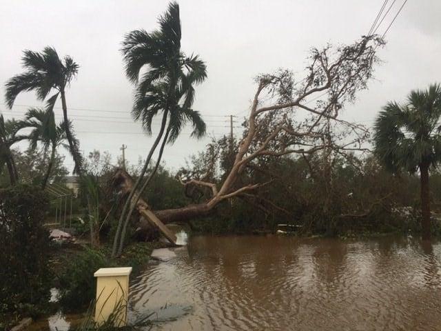 Photo of destruction in Key West, Florida, following Hurricane Irma.