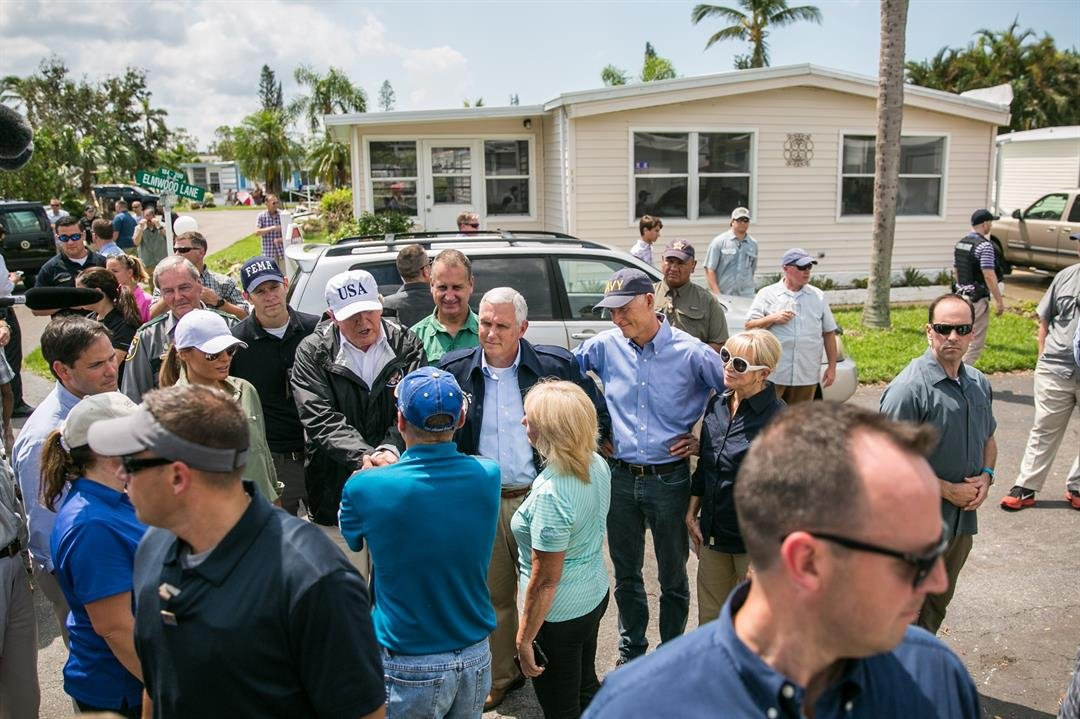 Trump Makes First Stop in Storm-Torn Florida