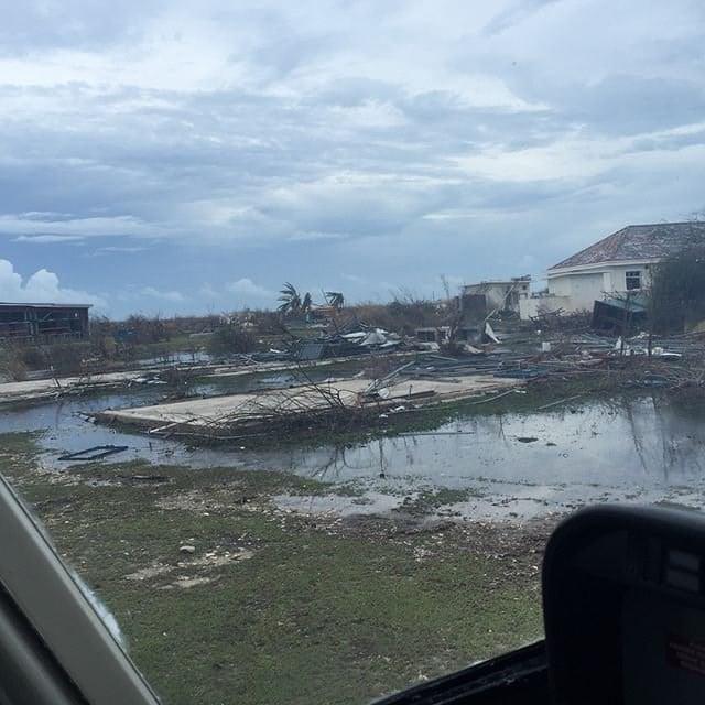 Damage is seen here after Hurricane Irma slammed the Caribbean island of Barbuda