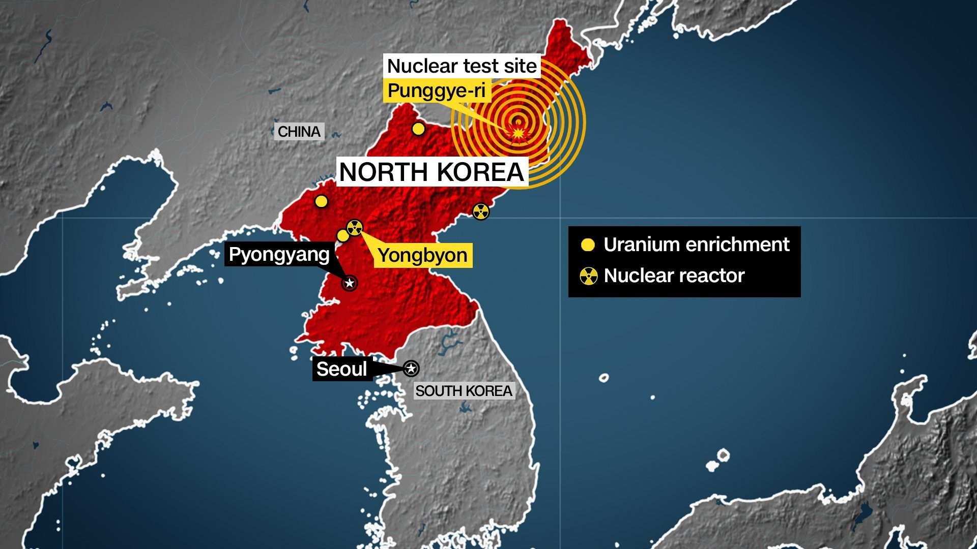 Natural disaster recorded in North Korea a suspected explosion