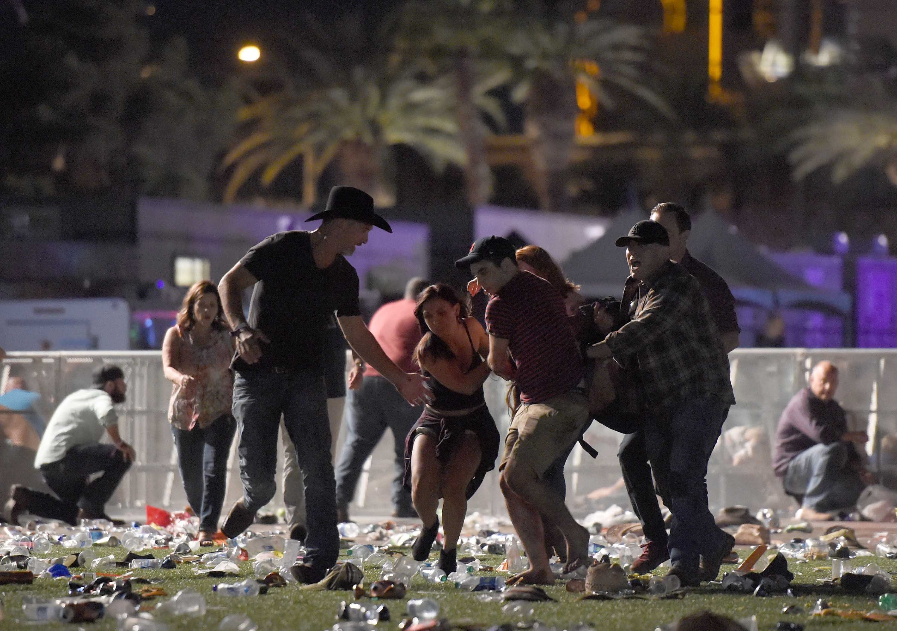 Trump condemns 'act of pure evil' in Las Vegas