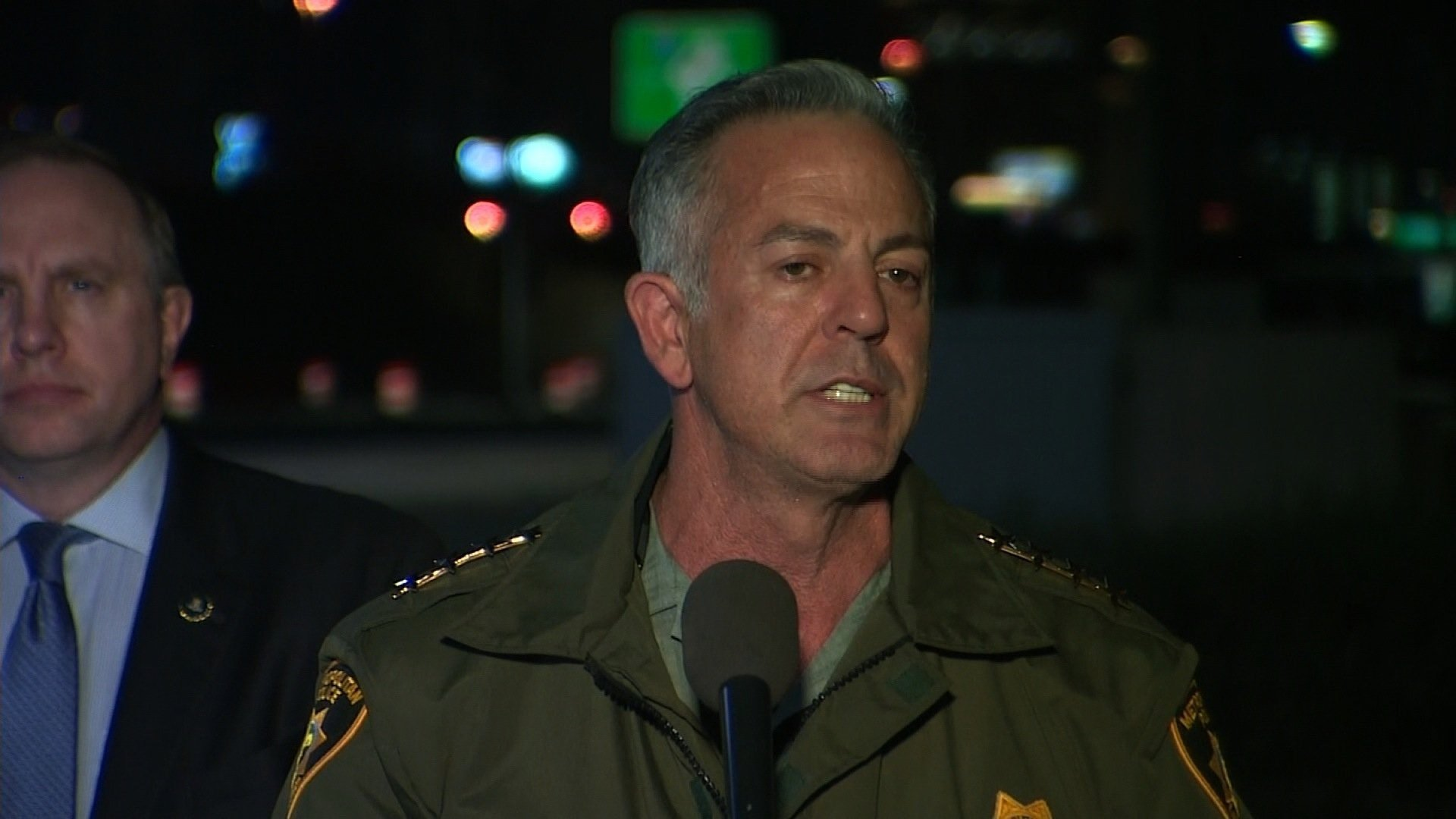 Las Vegas Sheriff Joseph Lombardo gives out details on the mass shooting in on the Las Vegas Strip