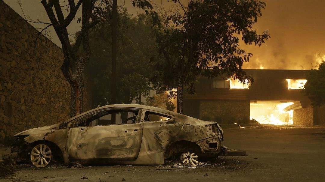 More than a dozen wildfires raged across Northern California on Tuesday, October 10, 2017 morning, with the biggest ones scorching the state's famous wine country, killing several people and burning more than 1,500 homes and businesses, authorities...