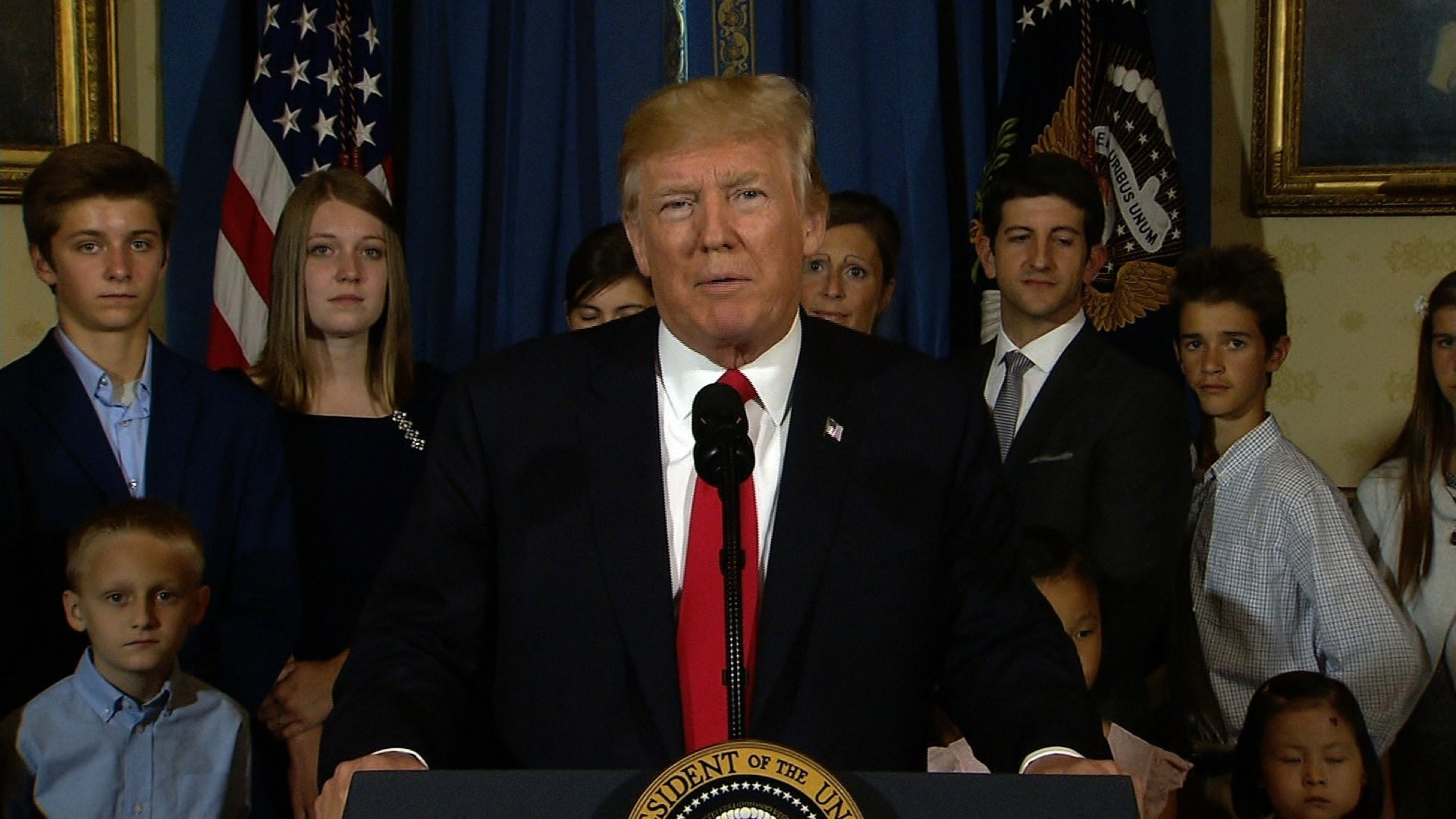President Trump speaks about repealing and replacing Obamacare on July 24, 2017.