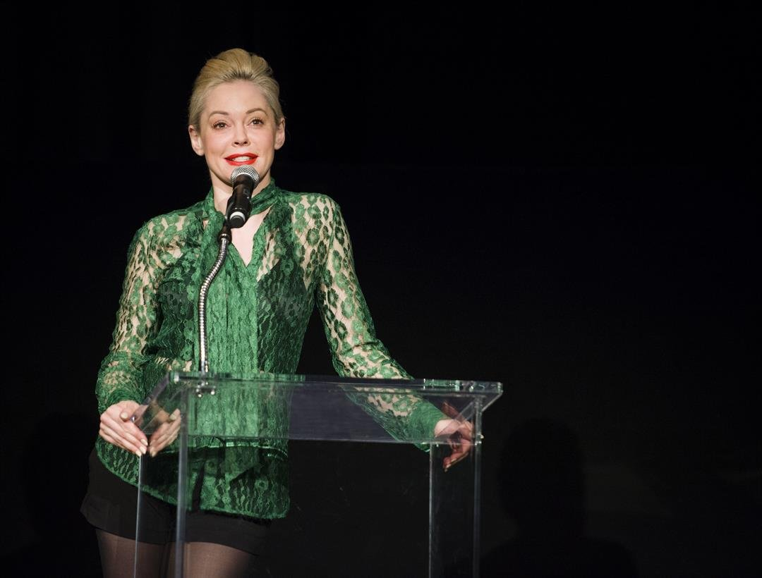 "Rose McGowan introduces the film ""Notorious"" at The Egyptian Theatre during the TCM Classic Film Festival in Hollywood California on April 26, 2013."