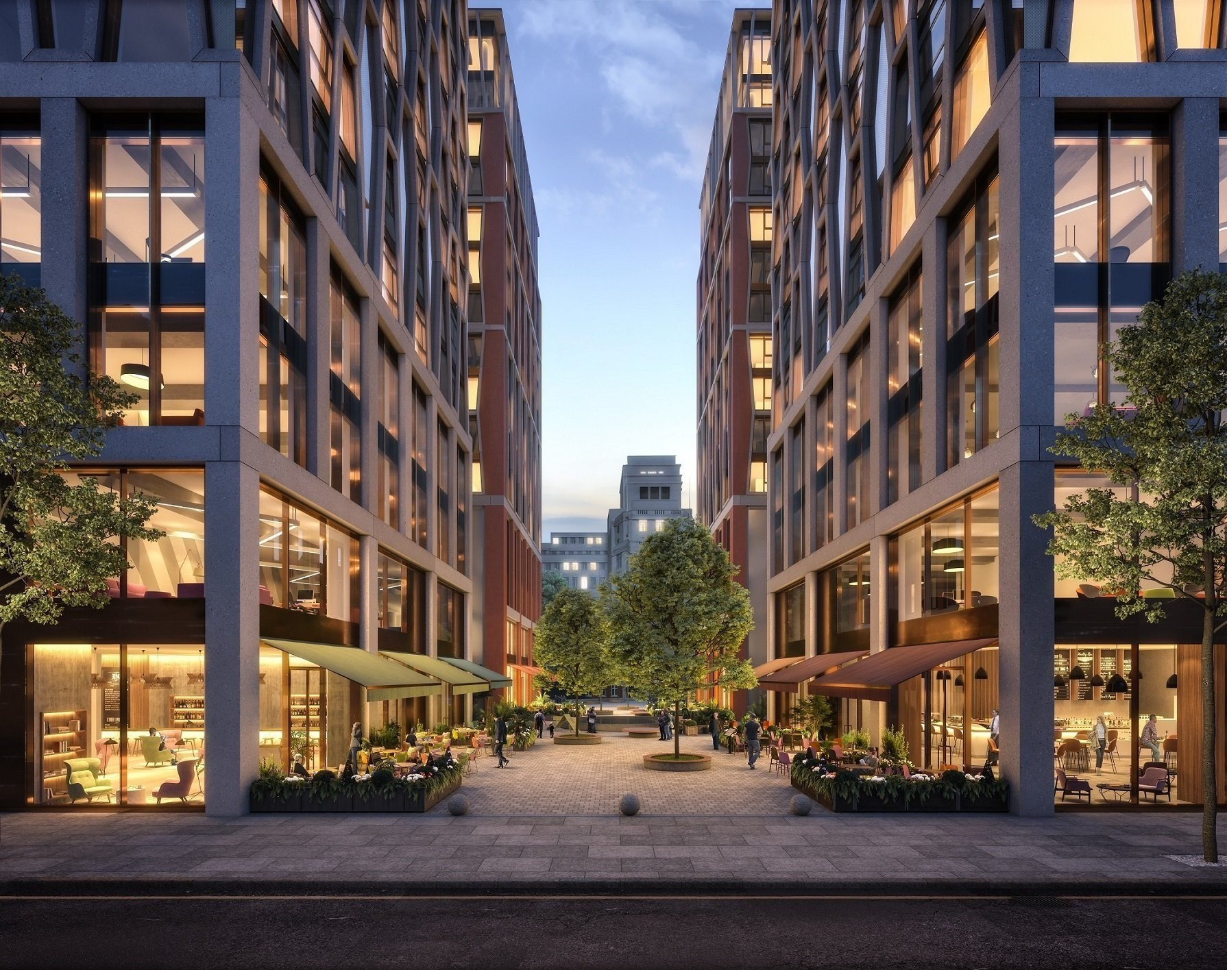 An artist's impression of The Broadway at New Scotland Yard in London.