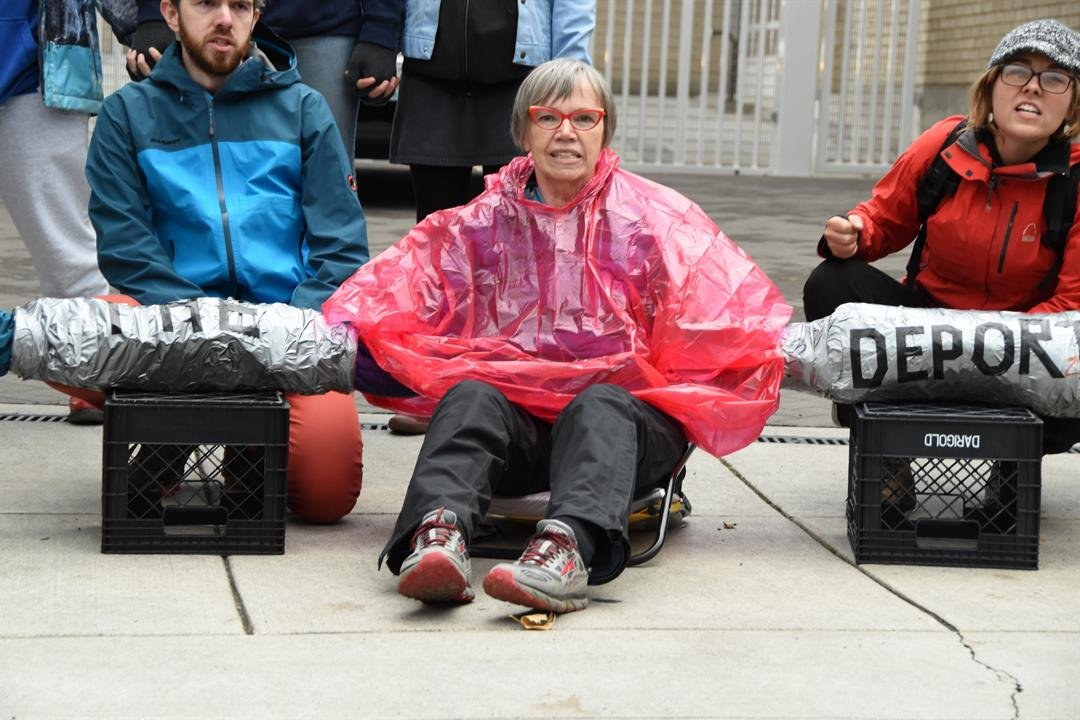 Portland Mercury photos of Portland ICE protest on October 11, 2017